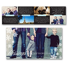 Snowflake Blessings Storyline - Photo Holiday Card